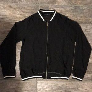 Zara sheer varsity jacket